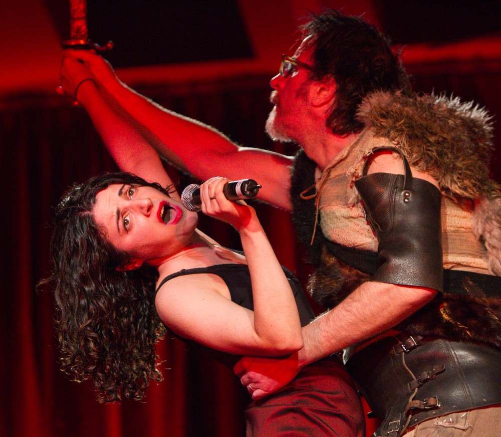 Lisa Clair and Jason Craig in Beowulf at the Adelaide Festival. Photo: Shane Reid