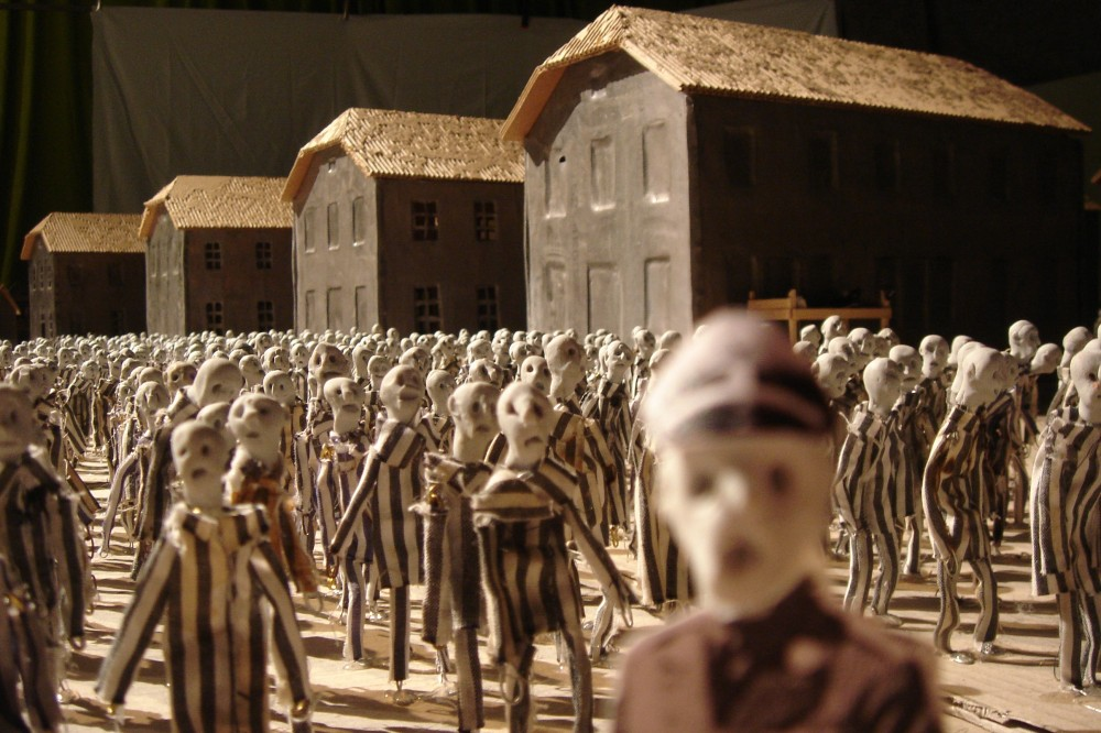 Row upon row of eight-centimetre puppets are brought to life in Kamp at the Adelaide Festival (Photo: Herman Helle)
