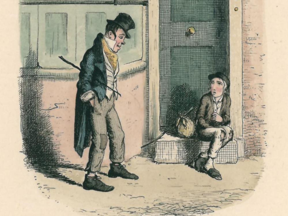 A scene from 'Oliver Twist', one of many works by Charles Dickens believed to have been inspired by the Foundling Hospital