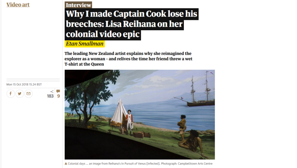 Why I made Captain Cook lose his breeches: Lisa Reihana on